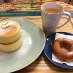レイクタウン湖北エリアの「レインボー カフェ(Rainbow Cafe)」でスフレパンケーキと、揚げたてドーナツを食べてきた!